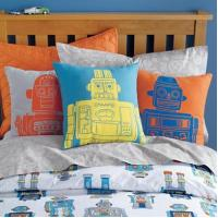 Wholesale cartoon Robot cotton Linen Throw Pillows 20 Inch For Children Bed from china suppliers
