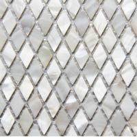 Wholesale Handmade Beautiful Sea shell Mosaic Freshwater Sea Shell Wall Mosaic Rhombus Shape 25x10mm from china suppliers