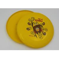 Wholesale Eco - Friendly Yellow Plastic Frisbee EN71 , Outdoor Toy Flying Saucer Frisbee from china suppliers