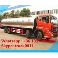 Wholesale hot sale 25,000L fresh milk tank truck,Dongfeng tianlong 8*4 25m3 stainless steel milk tank delivery truck for sale from china suppliers