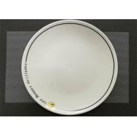 Buy cheap Ceramic Round Plate With Logo Porcelain Dinnerware Sets Dia. 25cm Weight 744g from wholesalers