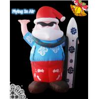 Wholesale Oxford Blue Pvc Surfing Inflatable Santa Claus for Christmas Decoration from china suppliers