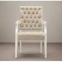 Wholesale Square Arm tufted fabric dining room chairs , Oak Solid Wood tall back dining chairs  from china suppliers