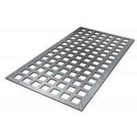Wholesale CNC Galvanized Square Hole Punch Sheet Metal 0.5-2.5mm Thick 1.22x2.44m Panel Size from china suppliers