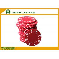 Wholesale Poker And Clubs Pattern Clay Composite Poker Chips 13.5G PANTONE Colors from china suppliers