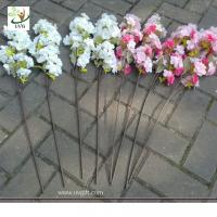 Buy cheap UVG Plastic tree branches with artificial cherry blossoms for wedding table decoration CHR from wholesalers