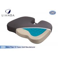55Kg / m3 Memory Foam Stadium Seat Cushion , Gel Coccyx Seat Cushion