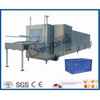 Wholesale Juice Bottle Plastic Crate Washing Machine , Stainless Steel Crate Washer Machine from china suppliers