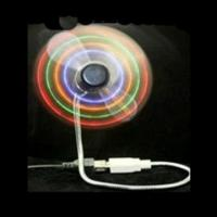Wholesale Novelty RGB portable laptop flashing mini flexible usb fan with 5leds for Vocal concert from china suppliers