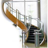 Wholesale Balcony Stainless Steel Handrails Glass Balustrade , Stainless Steel Deck Railing from china suppliers