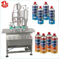 Wholesale Spray Can LPG Gas Filling Machine , Butane Gas Cassette Filling Machine from china suppliers