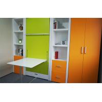 Wholesale Hotel Use Space Saving Folding Wall Bed With Dining Table, Automic Leg , Green Lacquer from china suppliers