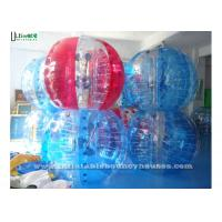 Wholesale 1.5 Meters Colorful Zorb Soccer Inflatable Bumper Balll For Adults , Red / Blue from china suppliers