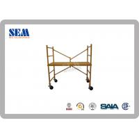 Building Shoring Fabricated Frame Scaffolding Hot Dip Galvanization