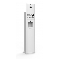 Buy cheap 10L alcohol liquid gel foam automatic hand sanitizer stand kiosk from wholesalers