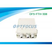 Quality IP 65 Optical Passive Fiber Termination Box FTTH 16 SC Adapter 1:8 PLC Splitter Indoor Plastic Boxes for sale