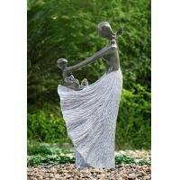 """Wholesale Happy Moment Statue Water Fountains , 47"""" Handcrafted Garden Statue Fountains from china suppliers"""