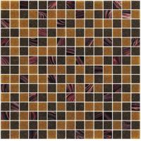 Wholesale Sanding brown 20mm glass mosaic blend pattern for boarder decoration from china suppliers