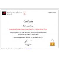 Guangdong Chutian Dragon Smart Card Co., Ltd. Certifications