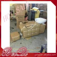 Wholesale beauty salon furniture hair washing sink salon equipments backwash shampoo unit bed from china suppliers