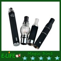 Buy cheap 2015 promotion price magic 3 in 1 dry herb and e liquid atomizer evod battery gift box from wholesalers