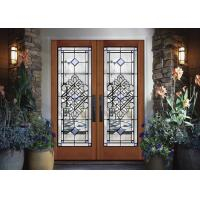 Wholesale Durability Sliding Glass Doors Theft Proof Decorative Panel Glass Brass / Nickel / Patina from china suppliers