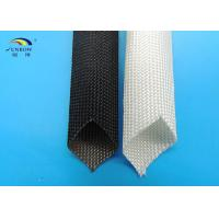 Wholesale Braided High Temperature Fiberglass Sleeving , Electric Cable Protection Sleeve from china suppliers