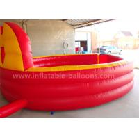 Quality Red Color Inflatable Gaga Ball Pit Game PVC Tarpaulin 20ft Portable For Fun for sale