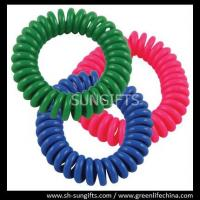Wholesale Pinkish red/blue/green wrist coil, plastic spiral coil, spring string coils from china suppliers