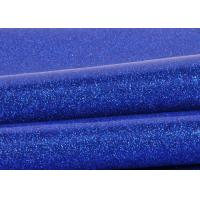 Wholesale Blue Pvc Glitter Fabric With Cloth Bottom , Special Textile Leather Sparkle Glitter Fabric from china suppliers
