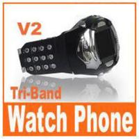 Wholesale V2 - CE passed watch mobile phone from china suppliers