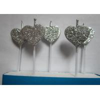 Wholesale Silver Glitter Birthday Candles Heart - Shaped For Valentine'S Day Decoration from china suppliers