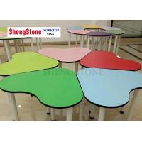 China Multi Color Desks And Chairs Compact HPL Panels For Kindergartens And Tutorial Classes on sale