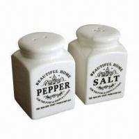 Wholesale Classical Bottle Shaped Ceramic Salt and Pepper Shaker from china suppliers