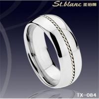 Wholesale tungsten ring with silver inlay TX-084 from china suppliers