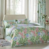 Wholesale Luxury Beautiful Home Bedding Sets Twin Size / Queen Size Silk Material from china suppliers