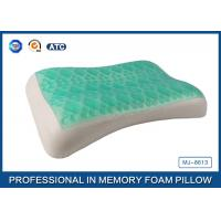 Wholesale Wave Contour Shape Cooling Gel Memory Foam Pillow For Adults Good Sleep from china suppliers