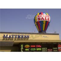 Wholesale Roof Decoration Rainbow Helium Ground Balloons Inflatable With Banner Printing from china suppliers