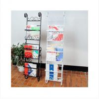 Wholesale European - Style Movable Metal Magazine Rack For Home , Cafes / Studio Shelves DX-K132 from china suppliers