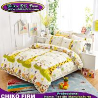 Wholesale 100% Cotton Cartoon Giraffe Design Cute King Size Bedding Sets from china suppliers