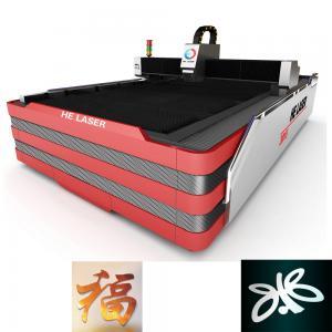 Wholesale 1000W HE Fiber Laser Cutting Machine , Laser Sheet Metal Cutting Machine from china suppliers
