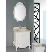 Wholesale 16mm oak material antique white bathroom vanity ,  freestanding  bathroom cabinet with customized mirror from china suppliers