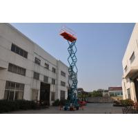 Wholesale 11 meters aerial hydraulic lift platform with extension loading 100kg for crane Lifting , scissor structure from china suppliers