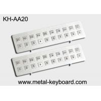 Buy cheap Kiosk Stainless steel Keyboard Vandal - proof , long life ruggedized keyboard from wholesalers