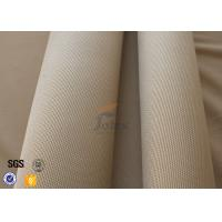 Wholesale 800℃ Fiberglass Fire Blanket 1.2mm 1150g , Satin Weave Brown Silica Fabric from china suppliers