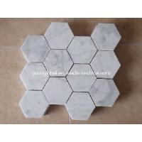 Wholesale Carrara White Marble Stone Mosaic Tile (Hexagon Pattern) from china suppliers