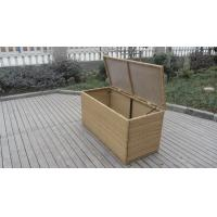 Wholesale Resin Wicker Storage Box , All Weather Plastic Rattan Cushion Box from china suppliers