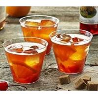 6 Ounce BPA-Free Clear Hard Plastic Jelly Cups For Desserts / Ice Cream