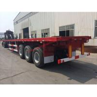 Wholesale 3 Axle 40ft 20 Foot Flatbed Trailer / Container , Semi Flat Bed Trailer from china suppliers