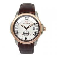 Wholesale Custom logo luxury wrist watches with leather strap watches rose gold bezel from china suppliers